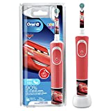 Oral-B Kids Cars Elektrische Zahnbürste für Kinder ab 3 Jahren, extra weiche Borsten, 2 Putzprogramme inkl. Sensitiv, Timer, 4 Cars-Sticker, rot (Produkt kann von Abbildung abweichen)