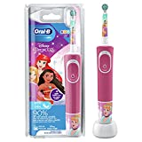 Oral-B Kids Princess Elektrische Zahnbürste für Kinder ab 3 Jahren, extra weiche Borsten, 2 Putzmodi inkl. Sensitiv, Timer, 4 Princess-Sticker, rosa (Produkt kann von Abbildung abweichen)
